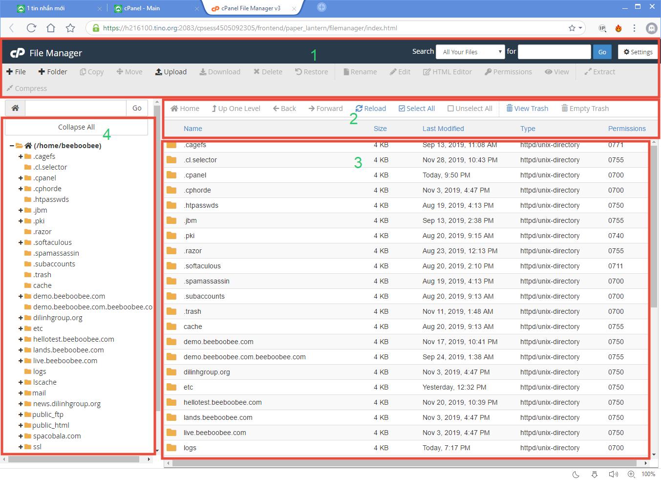 [cPanel] - Các thao tác sử dụng trong File Manager 5