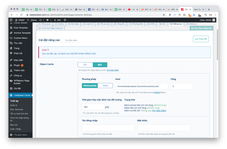Hướng dẫn cài đặt Memcached với Unix Socket cho website WordPress 12