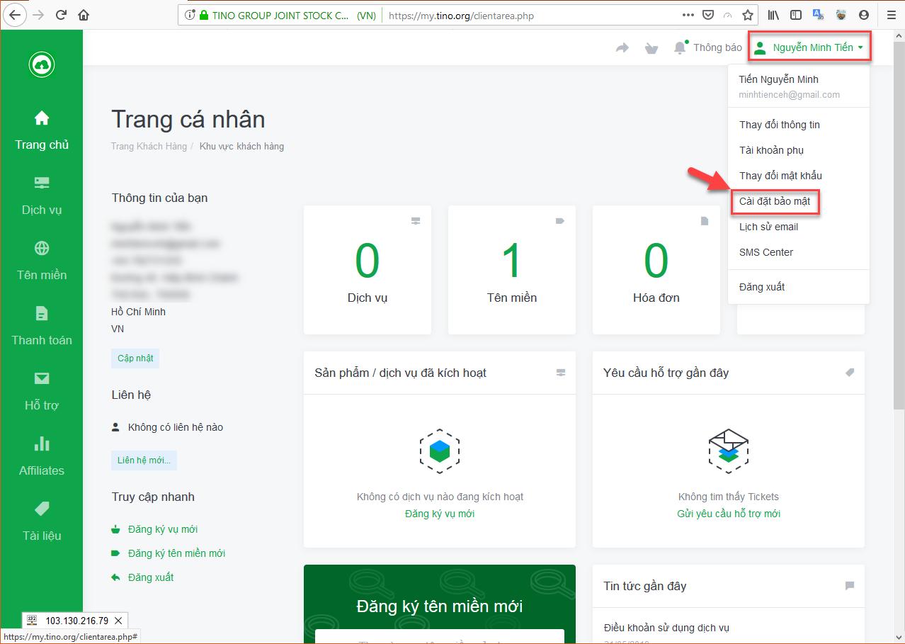 Hướng dẫn cách bảo mật 2 lớp cho hệ thống Cloud Hosting 7