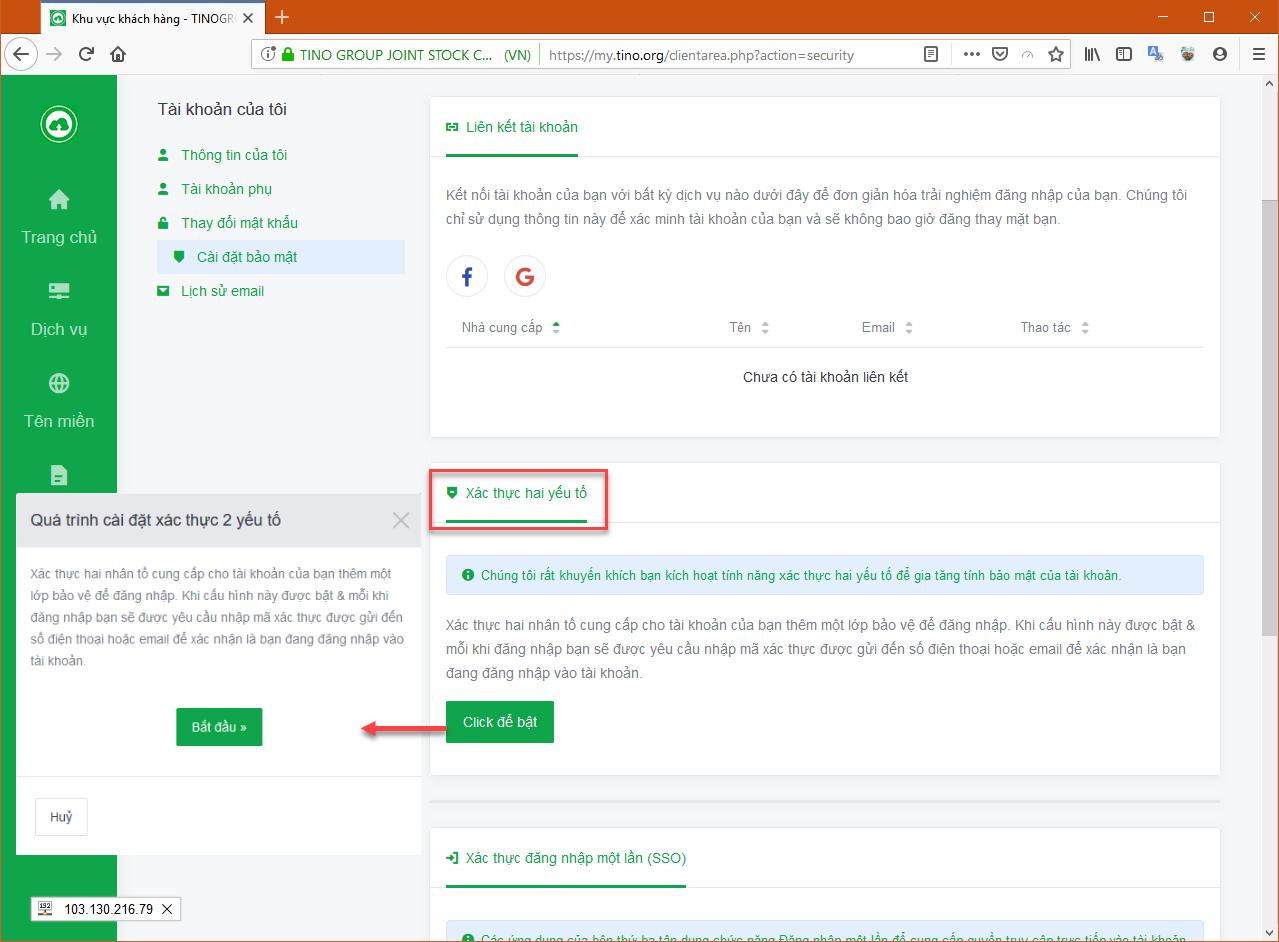 Hướng dẫn cách bảo mật 2 lớp cho hệ thống Cloud Hosting 8