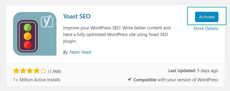kích hoạt plugin wordpress