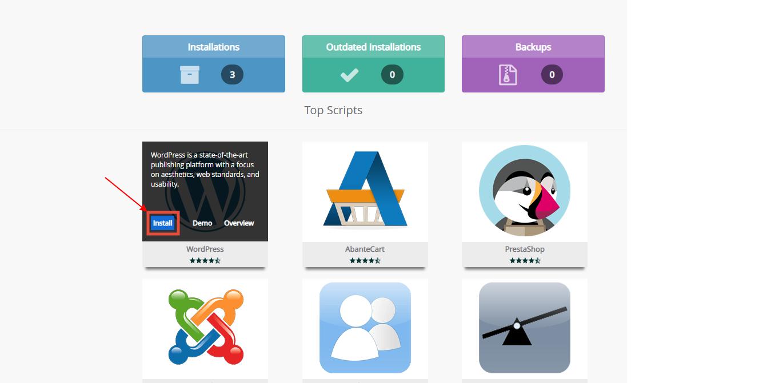 Hướng dẫn cài đặt Wordpress trên cPanel 2
