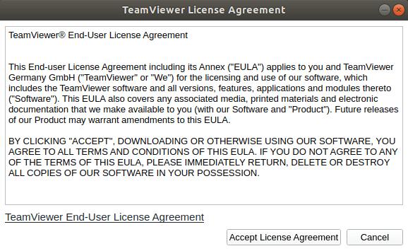 TeamViewer License Agreement