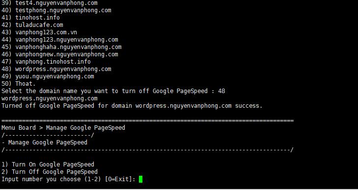 Turn Off Google PageSpeed - Tắt MOD Google PageSpeed trên Tinoscript 8