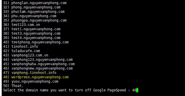 Turn Off Google PageSpeed - Tắt MOD Google PageSpeed trên Tinoscript 7