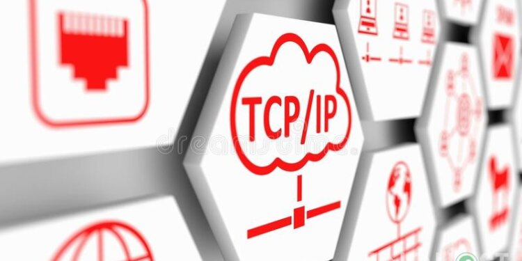Tcp Ip Concept Cell Blurred Background D Illustration 107790930 750x375 1