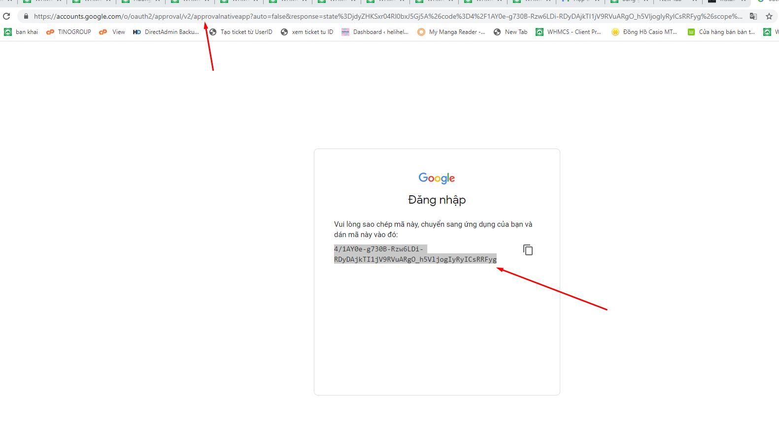 Connect Google Drive - Kết nối google drive trên TinoScript với rclone tự động backup hàng ngày cho các website. 14