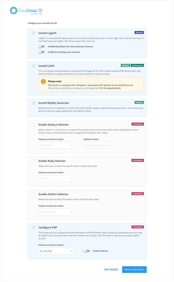 Hướng dẫn cài đặt cloudlinux trên server CentOS 4