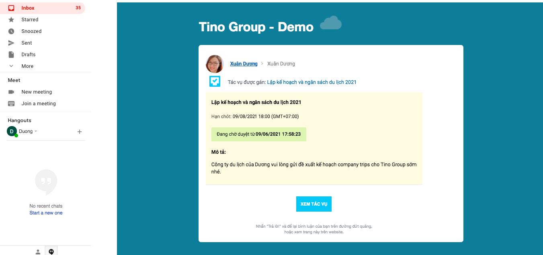 Gửi tác vụ qua email cho người dùng bên ngoài 7