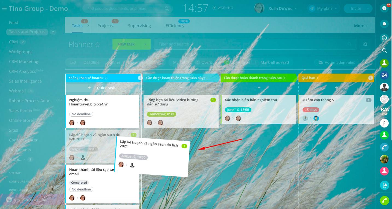 Task planner (Công cụ lập kế hoạch tác vụ)