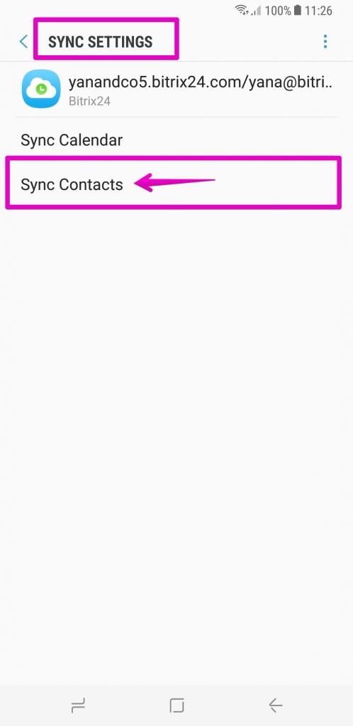 [Employees] Đồng bộ hóa người dùng Bitrix24 với thiết bị Android 15