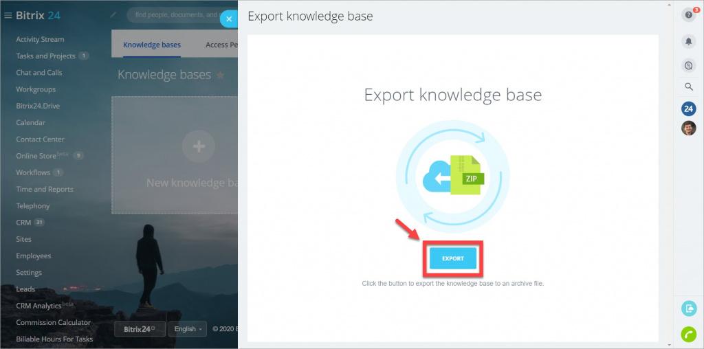 [Knowledge Base] Chuyển đổi cơ sở kiến thức sang tài khoản Bitrix24 khác