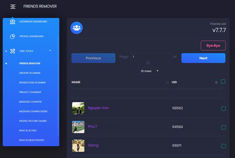 Phần mềm lọc bạn bè không tương tác FaceBook 2021 2