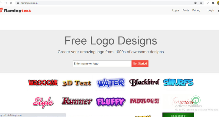 website tạo logo đẹp online