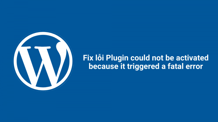 """Fix lỗi """"Plugin could not be activated because it triggered a fatal error"""" 1"""