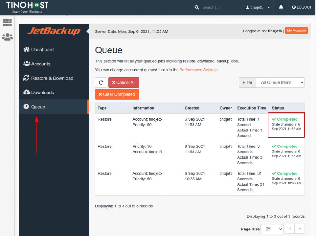 Hướng dẫn restore dữ liệu Hosting trên JetBackup 5 23