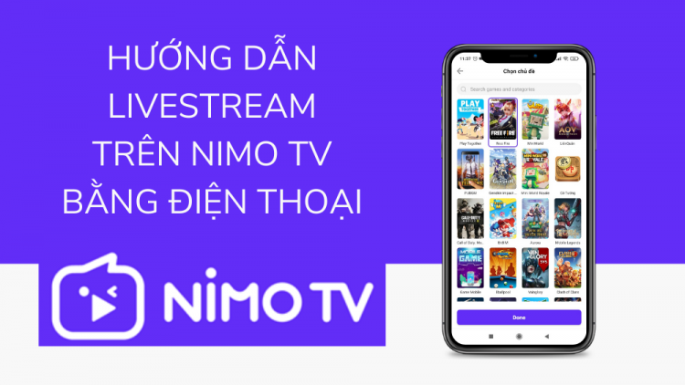 Hướng dẫn livestream trên Nimo TV bằng điện thoại mới nhất 2021 1
